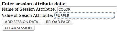 Figure 5 - Add session attribute data